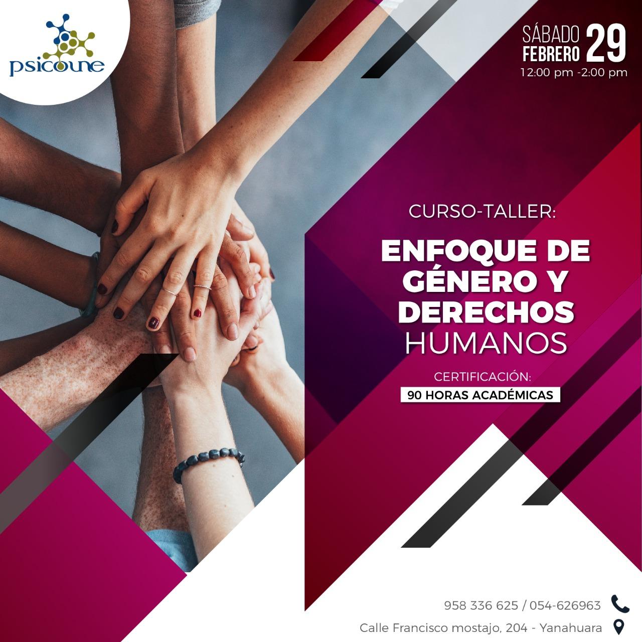 CURSO - TALLER: ENFOQUE DE GÉNERO Y DERECHOS HUMANOS