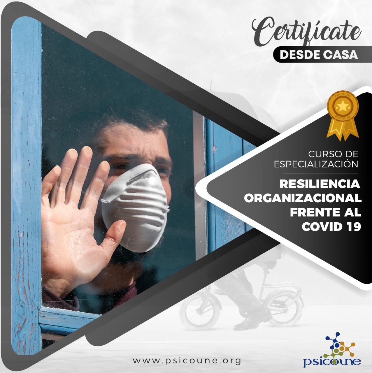 CURSO DE ESPECIALIZACIÓN: RESILIENCIA ORGANIZACIONAL FRENTE AL COVID 19
