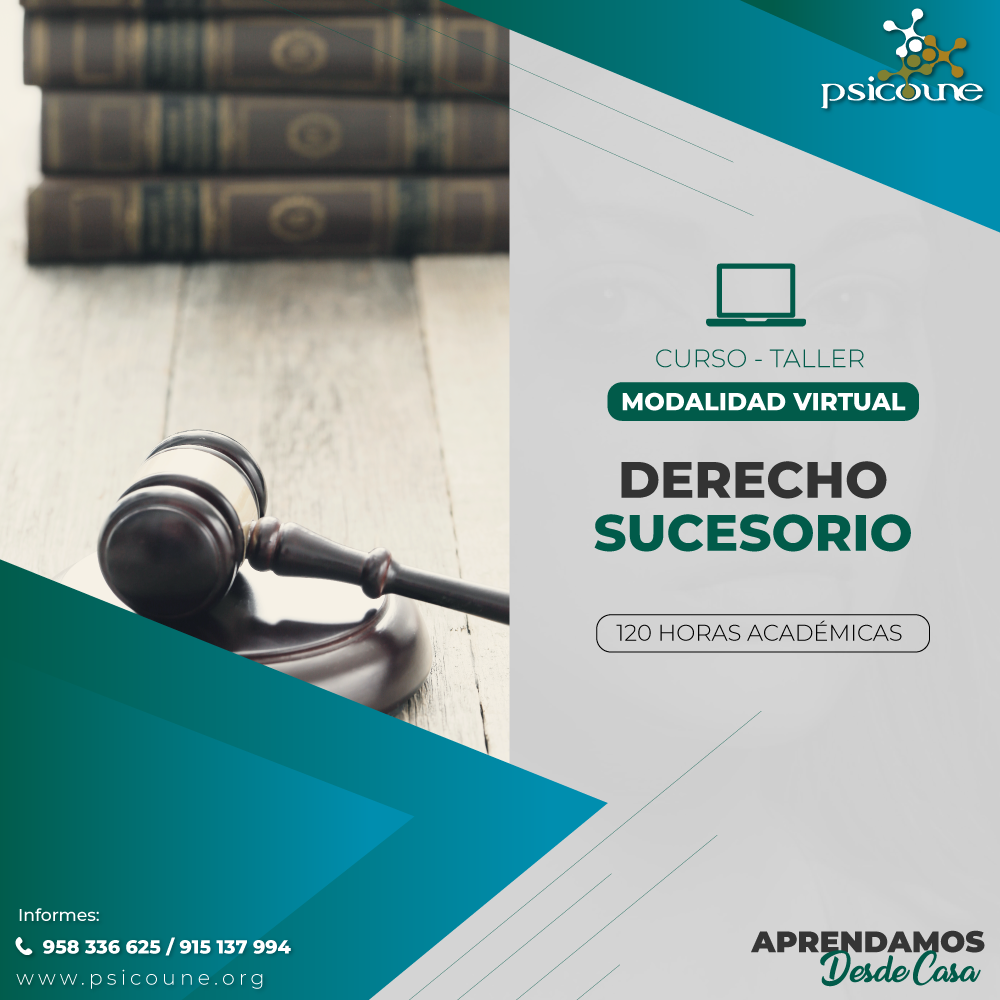 CURSO- TALLER: DERECHO SUCESORIO